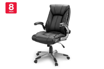 8 Pack Ergolux Stanford High Back Padded Office Chair
