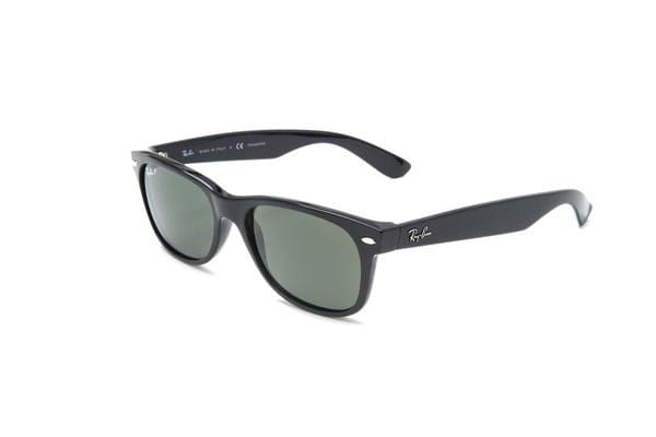 Ray-Ban RB2132 NEW WAYFARER - Black Shiny (Green lens)   55--18--145 ... d66bd47cff