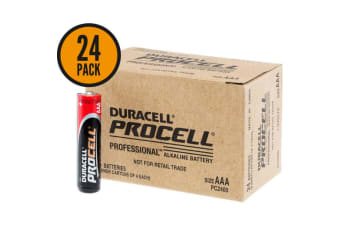 Duracell Procell AAA Professional Alkaline Battery Bulk 24 Pack