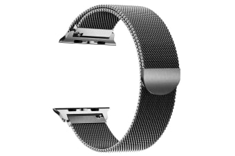 [Apple watch]Series 5 4 3 2 1 Milanese Magnetic Stainless Loop Strap Band 42mm/44mm iwatch-Space Grey