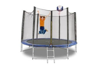 12ft Trampoline With Ladder & Basketball Hoop