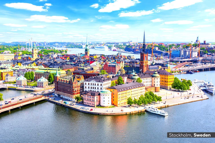 EUROPE: 16 Day Norwegian Fjords Cruise with Stockholm & Copenhagen City Stay Including Flights for Two (Inside Cabin)