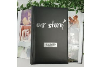 Our Story Personalised Photo Album 300 Photos Black
