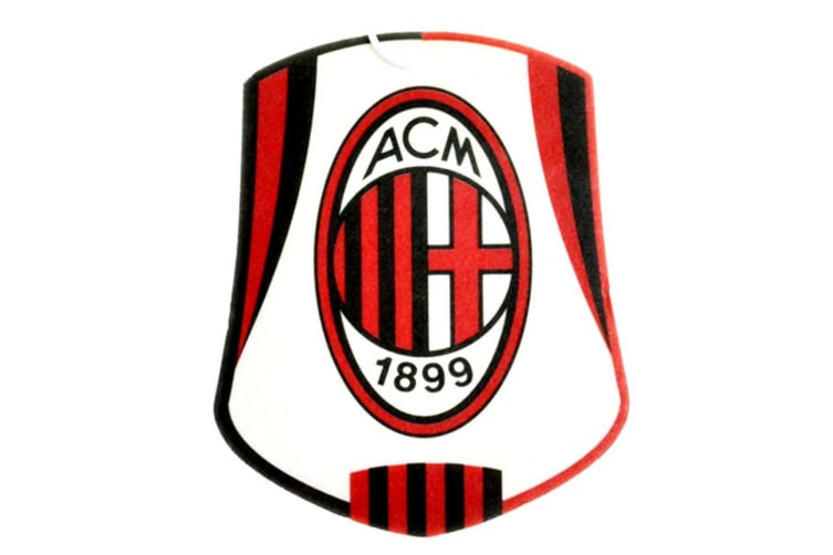 AC Milan Official Football Crest Car Air Freshener (White/Black/Red) (One Size)