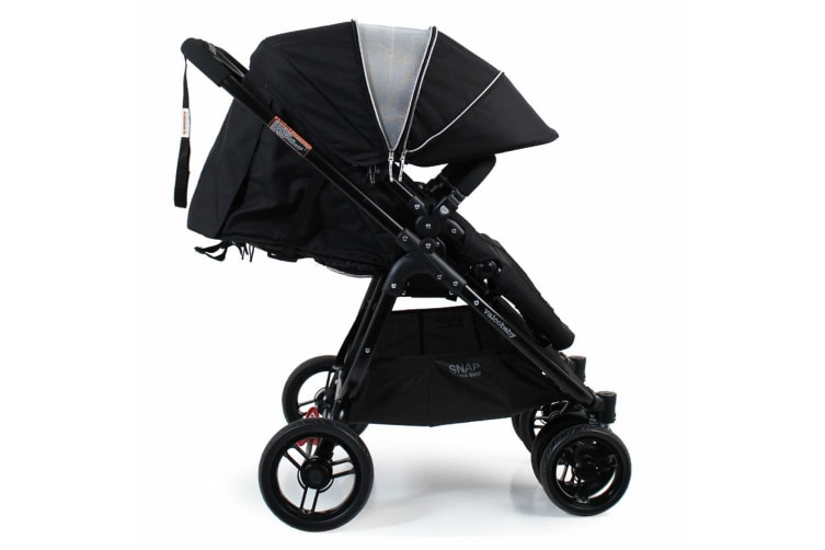 Valco Baby Snap Ultra Duo Foldable Pram Adjustable Seat Newborn Twin Coal Black