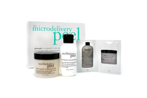 Philosophy The Microdelivery Peel: Lactic/Salicylic Acid Activation Gel + Vitamin C Resurfacing Crystal (2pcs)
