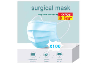 100 X Protective Disposable Face Mask Medical Masks 3 layers