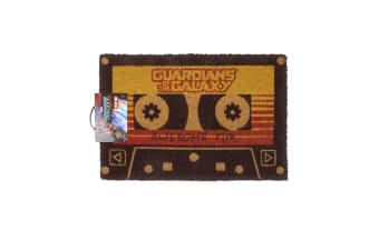 Guardians Of The Galaxy Vol 2 Awesome Mix Tape Door Mat (Black/Red/Yellow)
