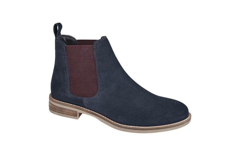 Cipriata Stellira Womens/ Ladies Twin Gusset Leather Lined Ankle Boot (Navy/Berry) (8 UK)