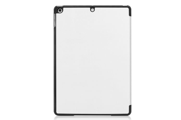 For iPad 10.2 Custer Texture Horizontal Flip Smart PU Leather Case   Smart Flip Cover White