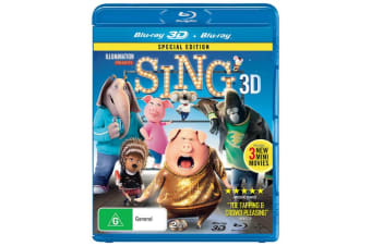 Sing 3D Edition with 2D Edition Blu-ray Region B