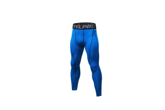 Men'S Compression Pants Baselayer Cool Dry Sports Tights Leggings - Blue Blue L