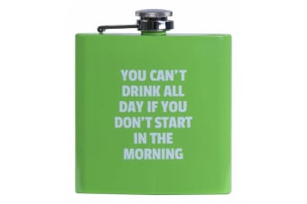 Hip Flask Alcohol Travel Bottle Portable Drinkware Stainless Steel Colours Fun - Green
