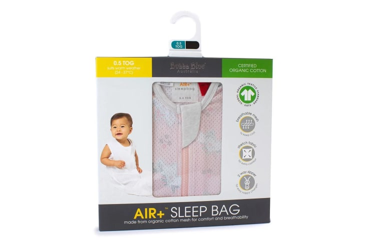 Bubba Blue Air+ Baby/Toddler Organic Cotton Sleep Bag 0.5 TOG 24-36m Unicorn