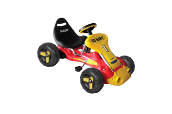 Kids Ride On Pedal Powered Go Kart Children Toy Bike/Car/Racing Buggy 3-6 Yr Red