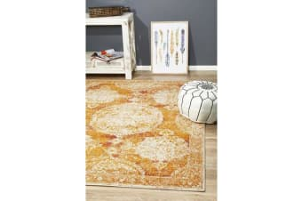 Hazel Rust Durable Vintage Look Rug