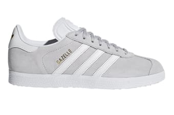 Adidas Originals Women's Gazelle Shoe (Grey/White, Size 7 UK)