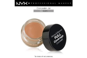Nyx Above & Beyond Full Coverage Concealer Jar #Cj07 Tan Red Undertone