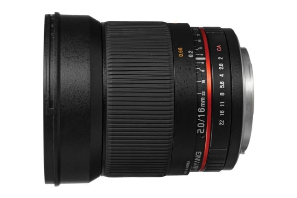 Samyang 16mm f/2.0 ED AS UMC CS Lens (Canon Mount)