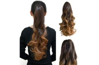 Ombre Brown High Grade Ponytail ClampWavy 20&Quot; Hair Extension Ombreclaw02