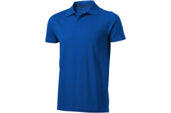Elevate Mens Seller Short Sleeve Polo (Blue) (XXXL)