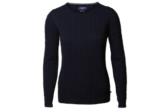 Nimbus Womens/Ladies Winston Cable Knit Cotton Jumper (Navy)