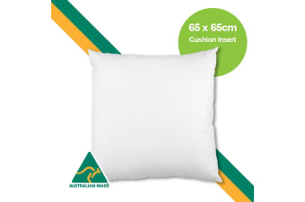 Aus Made 65 x 65cm Cushion Insert Polyester Premium Lofty Fibre