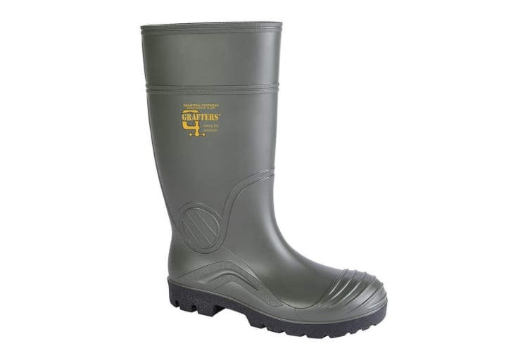 Grafters Womens PVC Safety Waterproof Boot (Green) (11 UK)
