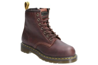 Dr Martens Womens/Ladies Maple Zip Lace Up Leather Safety Boot (Brown)