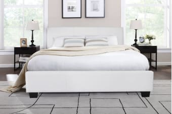 Shangri-La Bed Frame - Grandioso Collection (White)