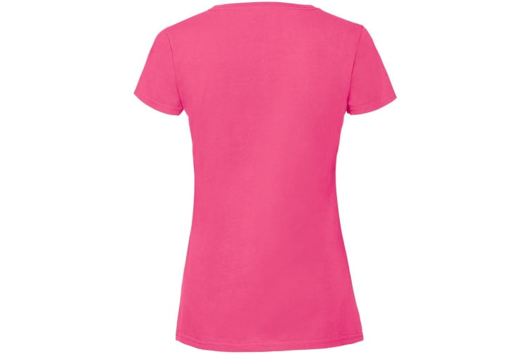 Fruit Of The Loom Womens/Ladies Ringspun Premium T-Shirt (Hot Pink) (2XL)