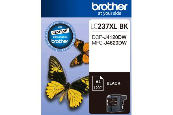 Brother LC237XLBKS Black Ink Cartridge - to suit DCP-J4120DW/MFC-J4620DW - up to 1200 pages