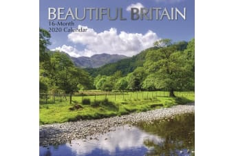 Beautiful Britain - 2020 Wall Calendar 16 month Premium Square 30x30cm (J)