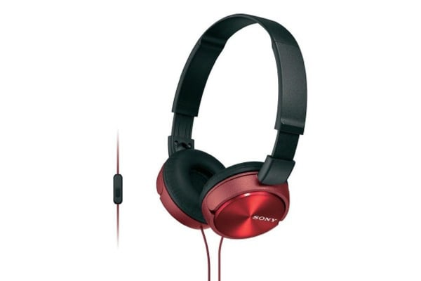 Sony ZX310 Smartphone On Ear Headphones - Red (MDR-ZX310APR)