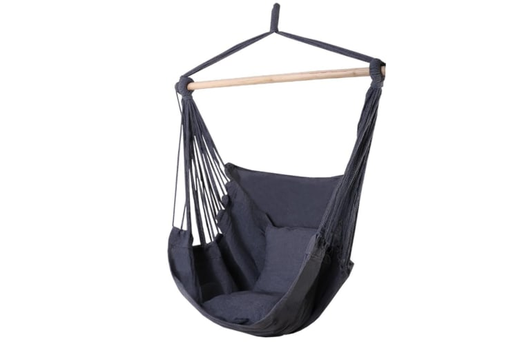 Outdoor Tree Hammock Chair Swing Hanging Portable Camping Grey