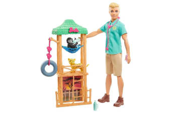 Barbie You Can Be Anything Wildlife Veterinarian Ken Doll Playset