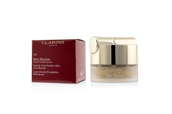 Clarins Skin Illusion Mineral & Plant Extracts Loose Powder Foundation (With Brush) (New Packaging) - # 112 Amber 13g
