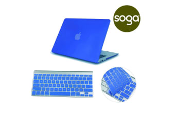 Crystal Hardshell Case + Keyboard cover for Apple Macbook Blue