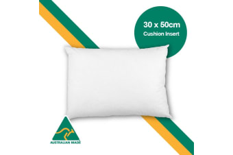 Aus Made 30 x 50cm Cushion Insert Polyester Premium Lofty Fibre