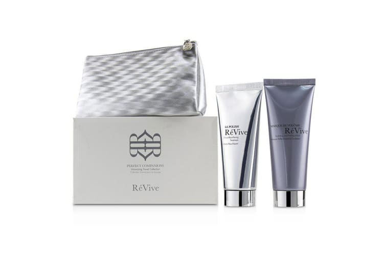 ReVive Perfect Companions Volumizing Travel Collection: Sculpting and Firming Mask 75g + Micro-Resurfacing Treatment 75g 2pcs+1bag