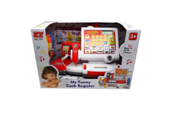 Electronic Kids Toy Cash Register with Soft Buttons and Scanner