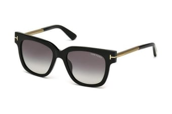 Tom Ford Tracy FT0436 - Shiny Black (Smoke Gradient lens) Womens Sunglasses