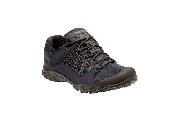 Regatta Mens Edgepoint III Low Rise Hiking Shoes (Navy/Burnt Umber) (6.5 UK)