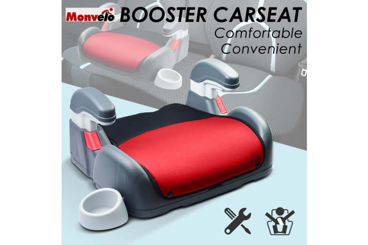 Car Booster Seat Chair Cushion Pad For Toddler Children Child Kids Sturdy  -  Red