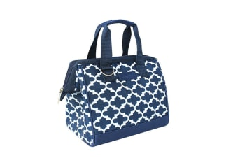 New Sachi Portable Insulated Lunch Bag Case StorageTravel Bag Moroccan Navy