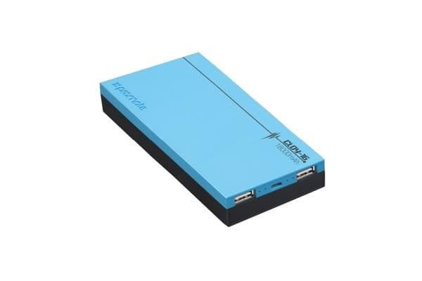 PROMATE Premium Lithium Polymer Backup Battery with Dual USB ports and ShakeView Technology - Blue