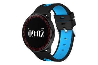 "Bluetooth V4.0 Smart Watch 0.96"" Oled Heart Rate Blood Oxygen Blue"