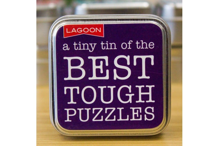 Tabletop Entertainment Fun in a Tin - Best Tough Puzzles