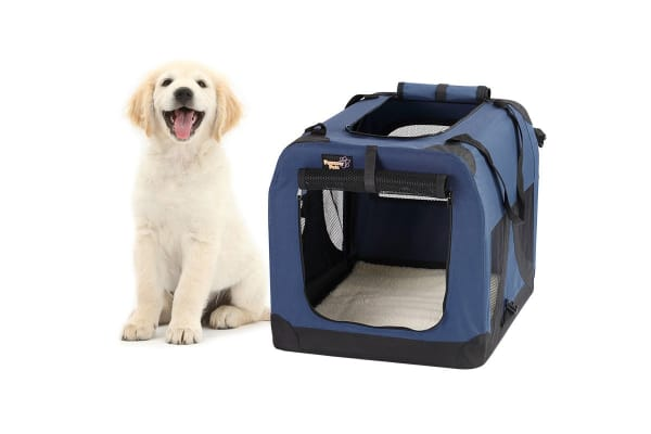 Pawever Pets Portable Soft Pet Dog Crate (Large)