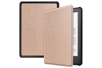 Smart Stand Case For Amazon All New Kindle 2019 10th Gen PU Leather Folio Cover-Rosegold